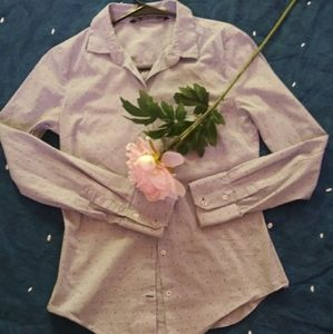 ZARA BASIC buttom shirt Long sleep blue